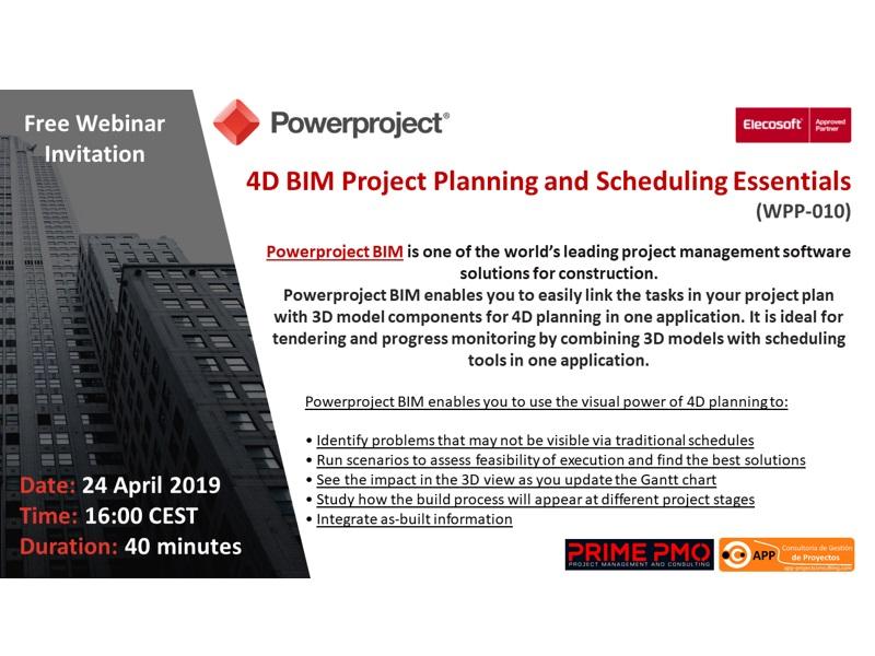 4D BIM Project Planning & Scheduling Essentials