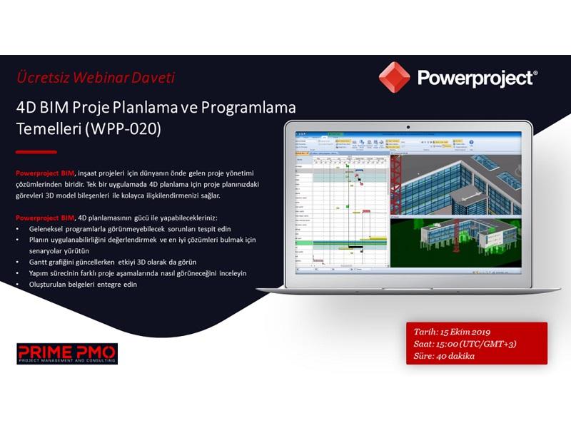 4D BIM Proje Planlama ve Programlama Temelleri