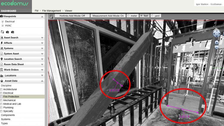 EcoDomus Laser Scanning Interface