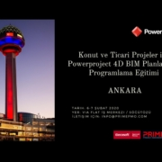 Konut ve Ticari Projeler için Powerproject 4D BIM Planlama ve Programlama Eğitimi - Ankara